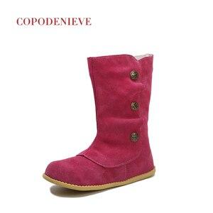 Image 2 - COPODENIEVE الأطفال أحذية ربيع الخريف طفل ليتل بنين أحذية خفيفة بدون كعب الاطفال الانزلاق على جلد الاطفال فتاة أحذية غير رسمية