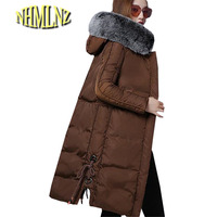 New Winter Collection 2017 Warm Female Winter Jacket Fur Collar Warm Women Park Collar Winter Coat