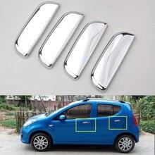 4 stücke ABS Für Suzuki Alto 2009 2010 2011 Chrom Auto Außentür Griffe Abdeckung Protektoren Dekorative Silber Styling Zubehör