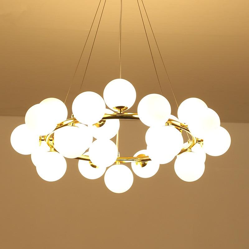 Modern Pendant Light magic beans DNA LED hanging lights Nordic Art Globe glass shade dinning room industrial lamps Home Lighting