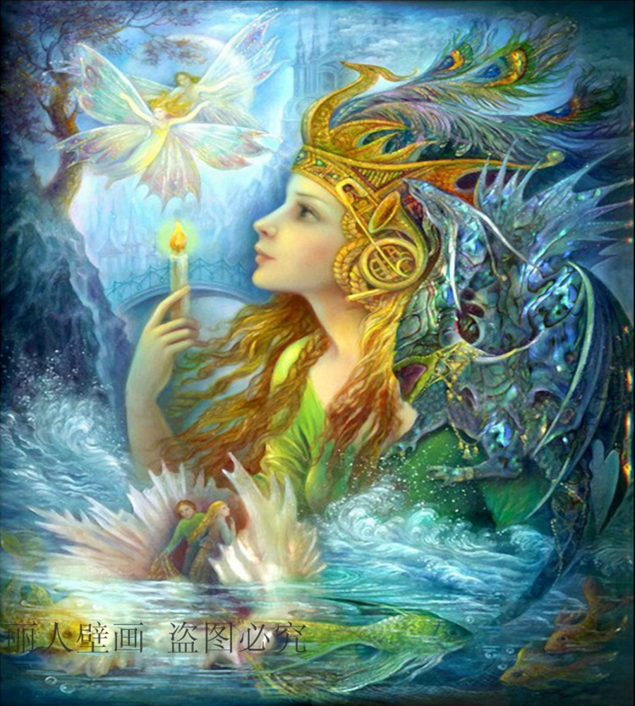Free Shipping Large Mural Wallpaper Fantasy Fairy Angel
