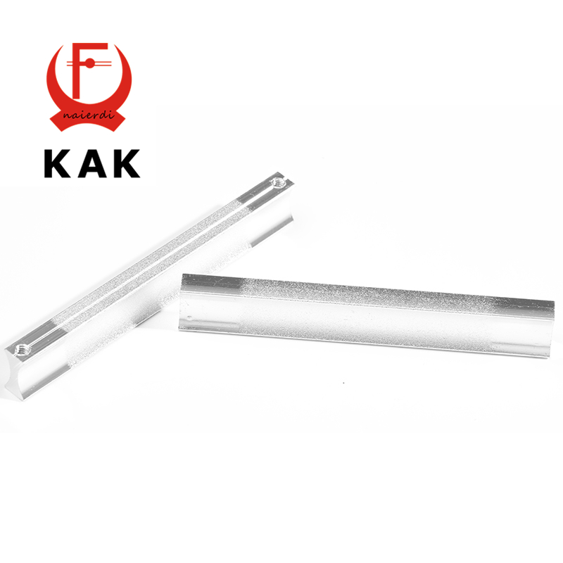 KAK 96MM Aluminum Handles Kitchen Door Cupboard Modern Wardrobe Handle Drawer Pulls Cabinet Knobs With Screw Furniture Hardware high quality 1pc concise door handle gold hardware kitchen cupboard cabinet handles wardrobe handle drawer pull 96mm 128mm