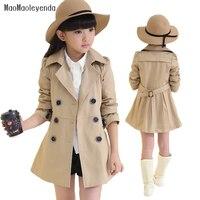 Maomaoleyenda Spring Autumn Girls Trench Coats Fashion Kids Windbreaker Girl Jacket Teenager 4 14 Years Outerwear