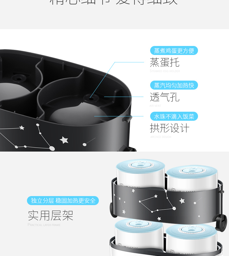 HTB13Z98Xe6sK1RjSsrbq6xbDXXax - Smart Electric Lunch Box Small Rice Cooker Double Layer Automatic Heating Ceramic Liner Smart Touch LCD Appointment Timing