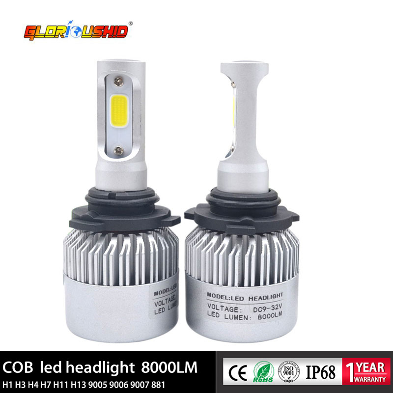 72w 8000lm 9005 Led Car Headlight Bulb Hb3 H10 All In One