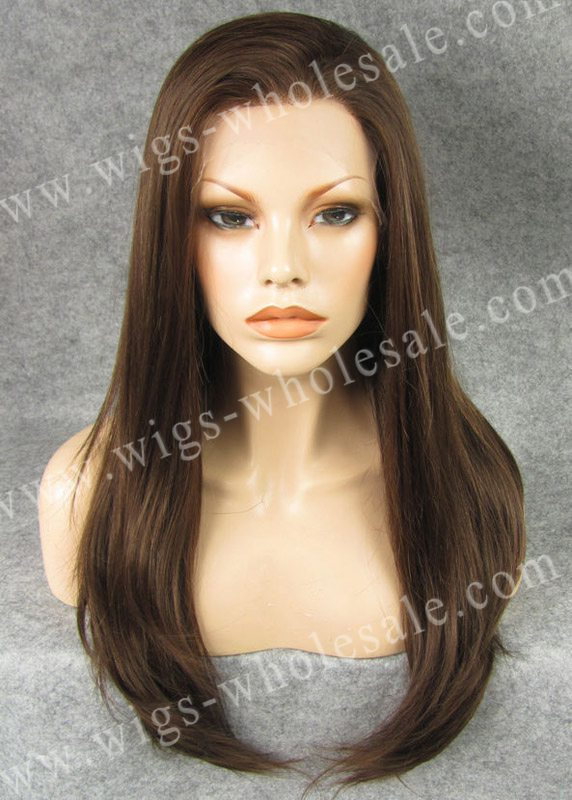 ФОТО Popular Long Straight Heat Resistant Hair Synthetic Lace Front Wigs