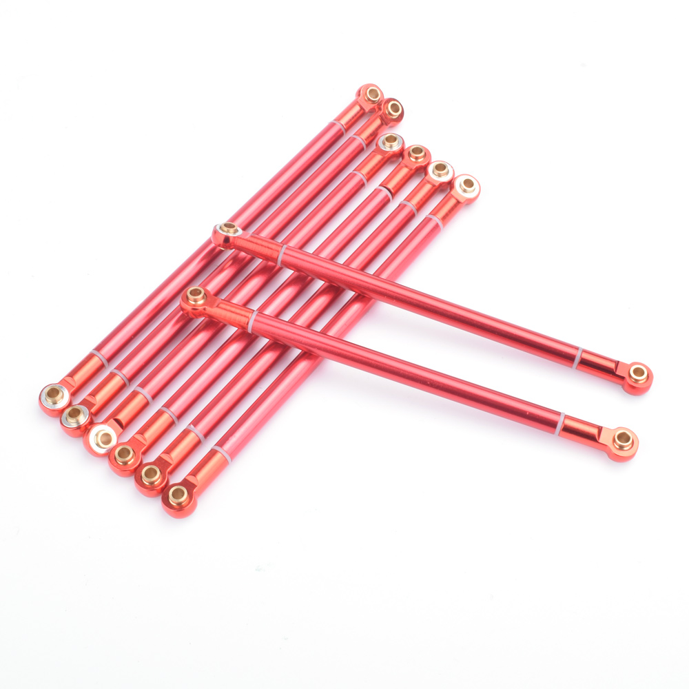 8PCS RC Aluminum Alloy Link Rod 313MM Wheelbase for RC Car Crawler Axial Scx10 20pcs aluminum m3 link rod end ball joint cw ccw for 1 10 rc car crawler buggy