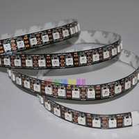 5M 5V WS2812 WS2812B 96LEDs/M Black Board Non-Waterproof 2811 IC 5050RGB SMD Addressable Color LED Strip Light Lamp