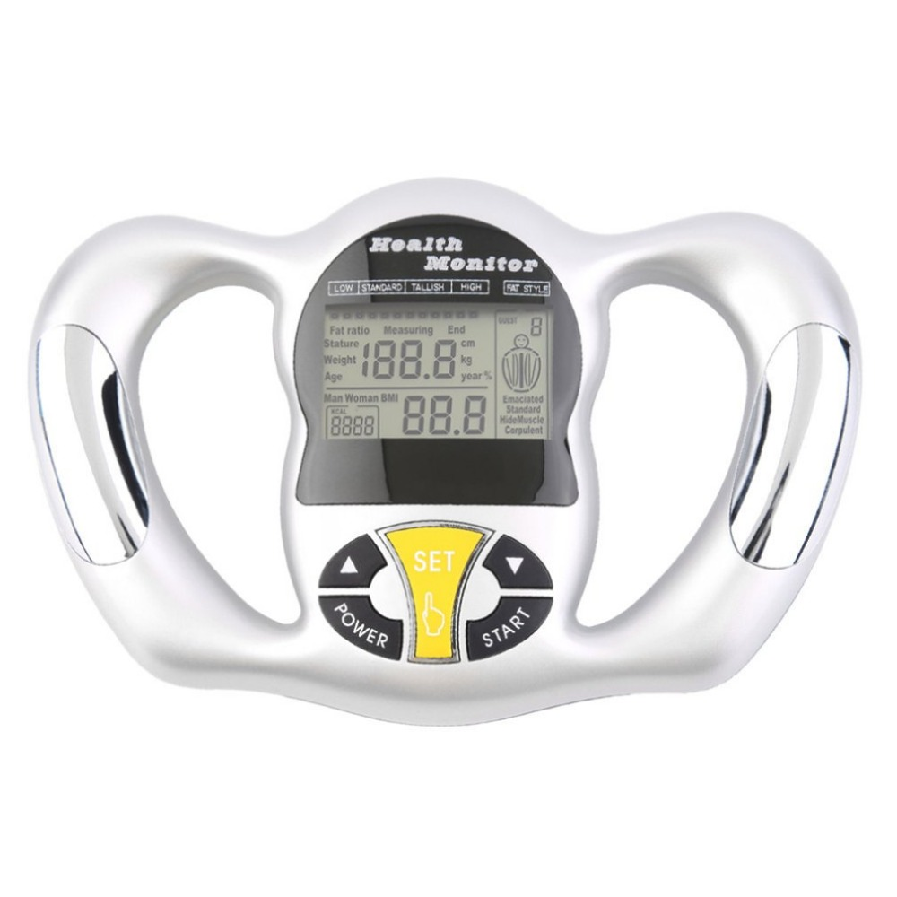 Monitor Digital LCD Fat Analyzer BMI Meter Weight Loss Tester Calorie Calculator Measurement Health Care Tools