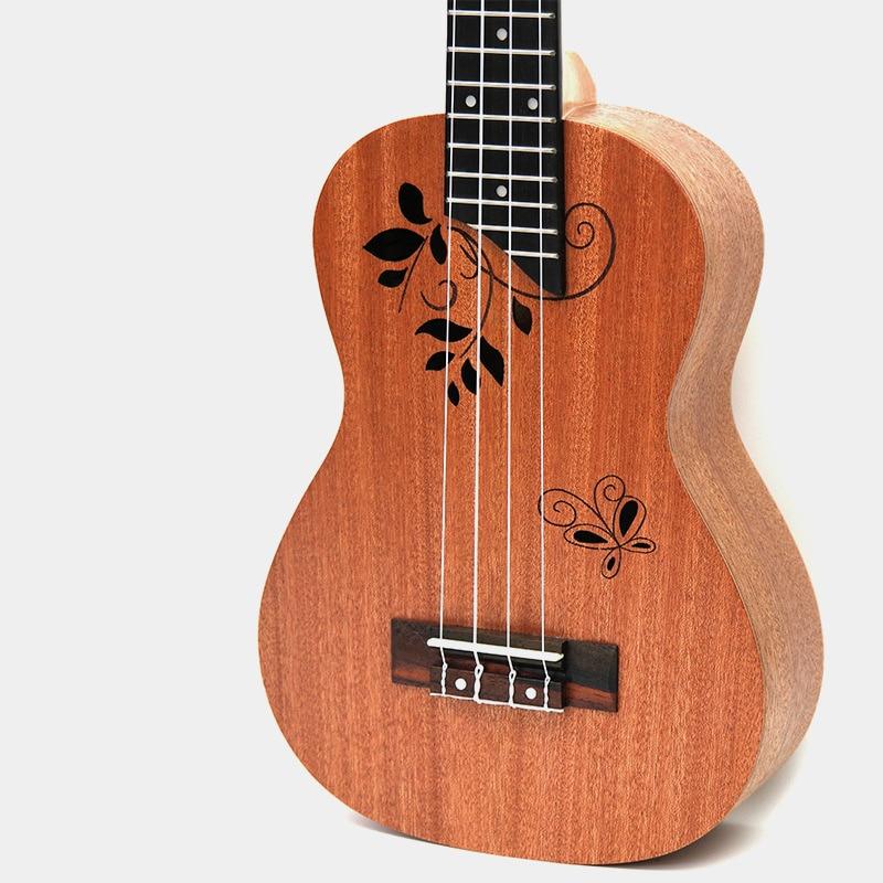 Afanti Music 23 inch small Guitar / Mahogany / 23 inch Ukulele (DGA-119) afanti music 23 inch small guitar zebrawood 23 inch ukulele dga 126