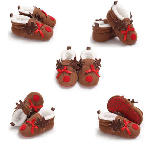 Christmas Shoes For Girls.Christmas Shoes Toddler Baby Boys Girls Boots Santa Claus Elk Winter Warm Fur Soft Sole Boots Cute Cotton Prewalker Sneakers