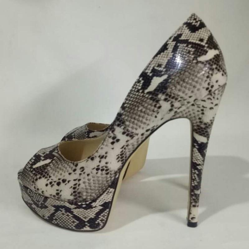 Tacón 13 Beige Zapatos gris Peep Mujer marrón Del Bombas Alto Moda Envío desnuda Patente Cuero Libre rojo Elegante Cm 45 Tamaño 34 De Shofoo Toe APzxAF