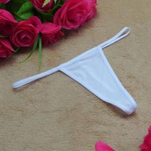 Sexy thong sexy panties black white trangle skimpy sexy g-string micro thong plus size women knickers(China)