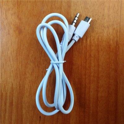 3,5 мм стерео штекер к Micro USB 5Pin Мужской адаптер конвертер аудио кабель Белый 80 см