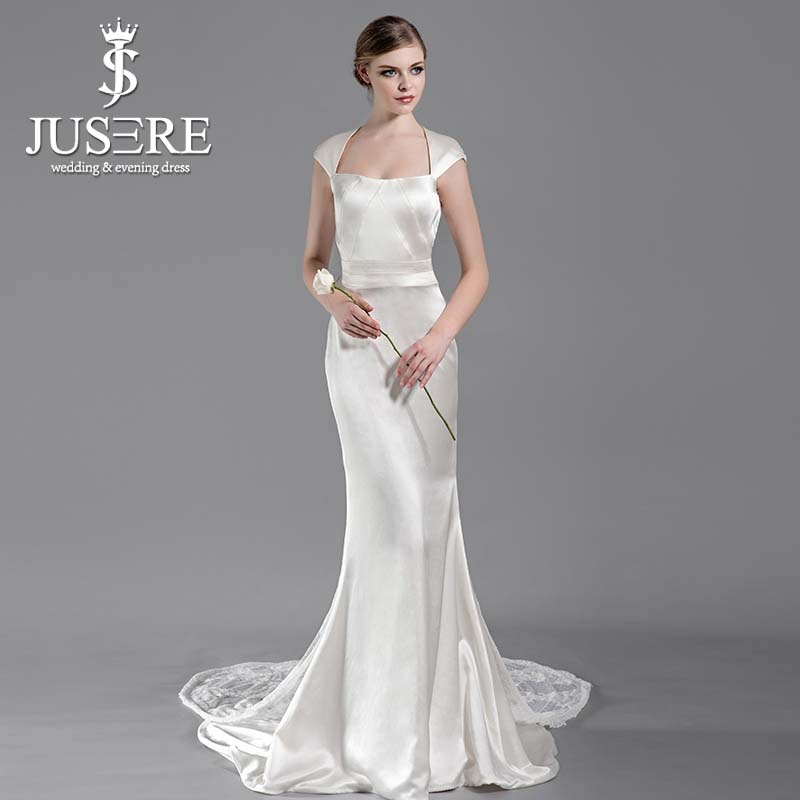 Silk mermaid wedding dresses the image for Satin mermaid style wedding dresses