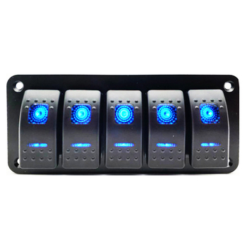 5 Gang Waterproof Marine Boat Switch Panel for Car Boat Marine chint lighting switches 118 type switch panel new5d steel frame four position six gang two way switch panel