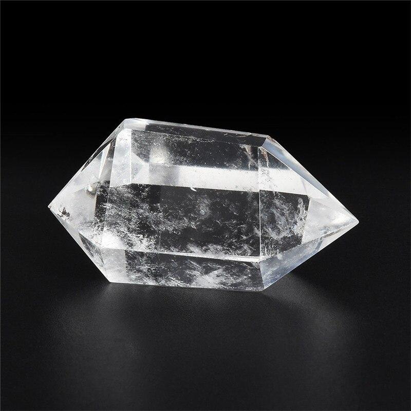 Cristal de quartz blanc hexagonal
