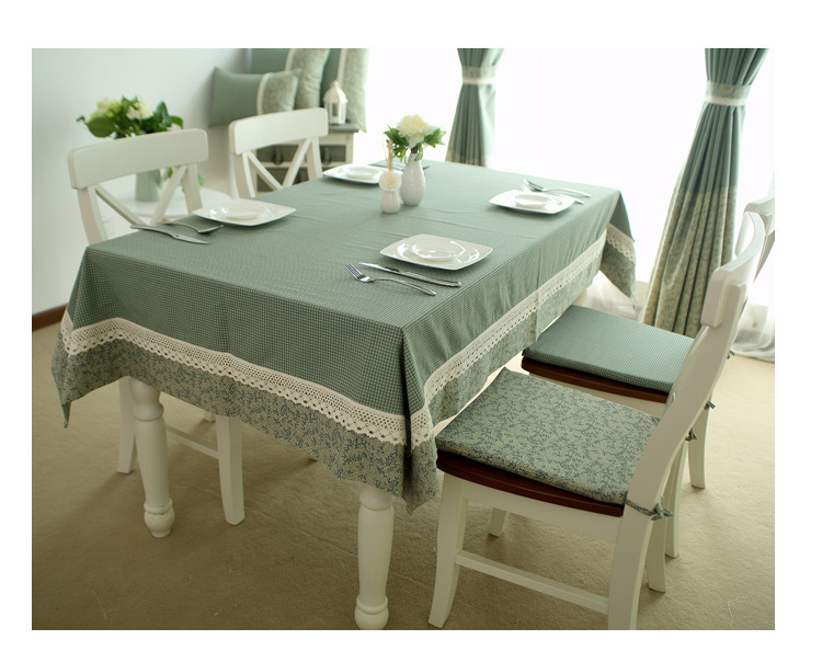 high quality europe leaves plaid patchwork tablecloth grid table cloth dining mantel green rectangle manteles para mesa zbin tablecloths from home