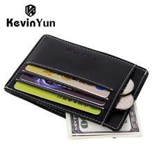 KEVIN YUN Designer Brand Fashion Men Card Holder Leather Slim Credit ID Case