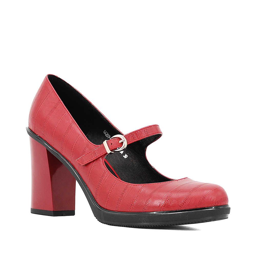 SOPHITINA Marka Hakiki Deri Pompaları Toka Kayış Rahat Kalın Yüksek Topuk Ayakkabı Retro Yuvarlak Ayak El Yapımı parti ayakkabıları D12