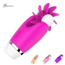 Guver 12 Speed Licking Rotate Tongue Clitoris Nipple Vagina Stimulator Vibrator Female Masturbator Erotic Sex Toys For Women 1PC