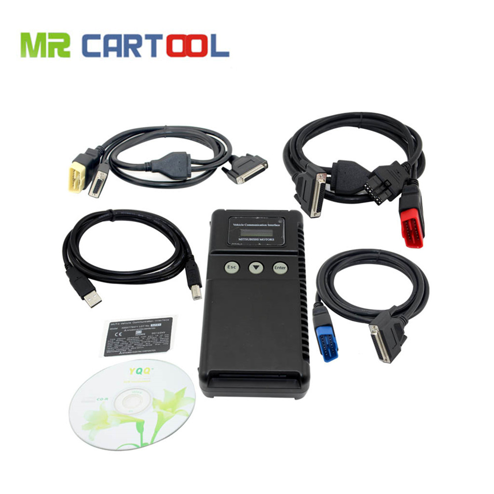 Top-Rated MUT-3 Support ECU Programmer Mitsubishi MUT3 MUT 3 Car and Truck Diagnostic Tool MUT III DHL Free Shipping leatherman kit mut