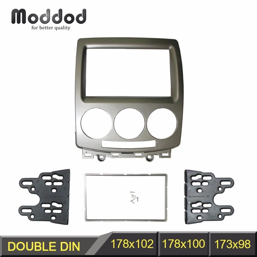 Dvostruki 2-din automobilski radijski mehanizam za Ford i-Max 2007+ Mazda 5 Premacy 2005+ Audio stereo ploča DVD CD Oprema za ukrašavanje okvira okvir
