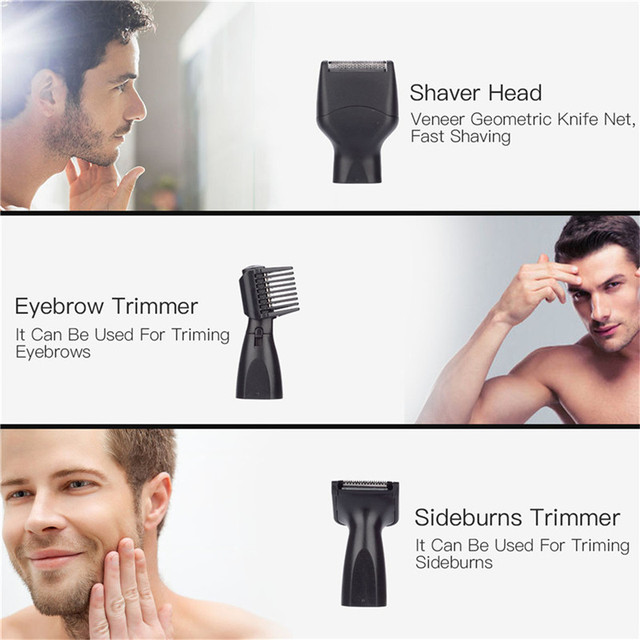 4 In 1 Electric Nose Trimmer USB Rechargeable Shaver Men Face Hair Removal Beard Ear Sideburns Eyebrow Shaper Clipper P36 3