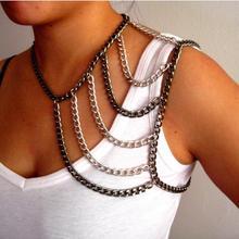 2016 moda negro / plata mezcla de color multilayer collar llamativo bandolera con flecos collar de gargantilla mujer atractiva de moda de joyería
