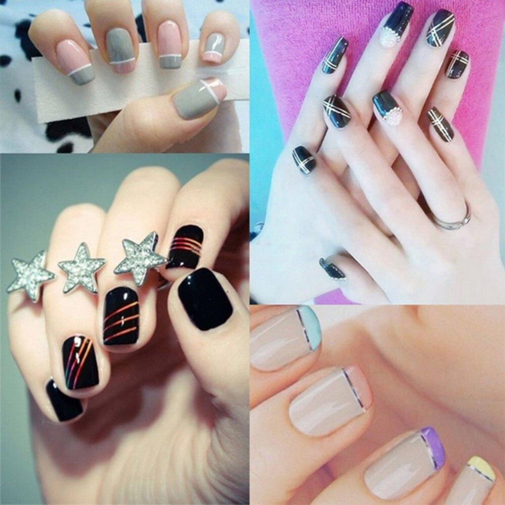 Saviland 10 teile/satz gemischte bunte schönheit nagel rolls ...