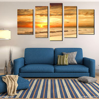 5 Imagem Combinação Pintado Pinturas Murais Moderna Oceano Parede Pinturas Decorativas sala de estar