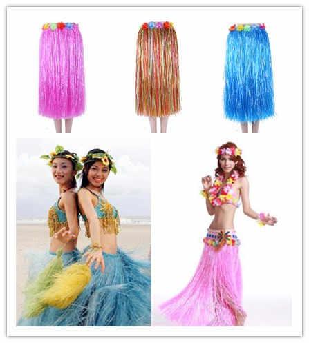 Sujetador de guirnalda de 80 CM, decoración para fiesta hawaiana divertida, suministros para vestido, falda hula para adultos, Show Grass, baile en la playa, falda de actividades