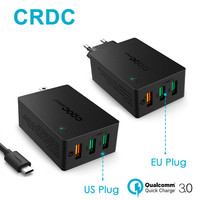 CRDC Caricatore Della Parete Caricatore USB Carica Rapida 3.0 Veloce Intelligente IC di CONTROLLO di qualità 2.0 Compatibile Per iPhone Xiaomi Samsung LG G5 & More