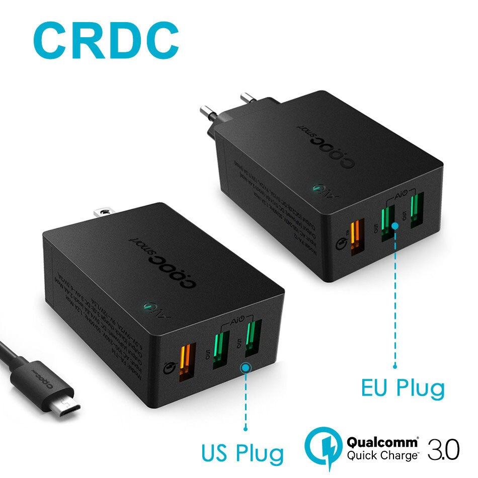 bilder für CRDC Usb-ladegerät Quick Charge 3,0 Schnelle Ladegerät Smart IC QC 2,0 Kompatibel Für LG G5 Samsung iPhone Xiaomi & mehr
