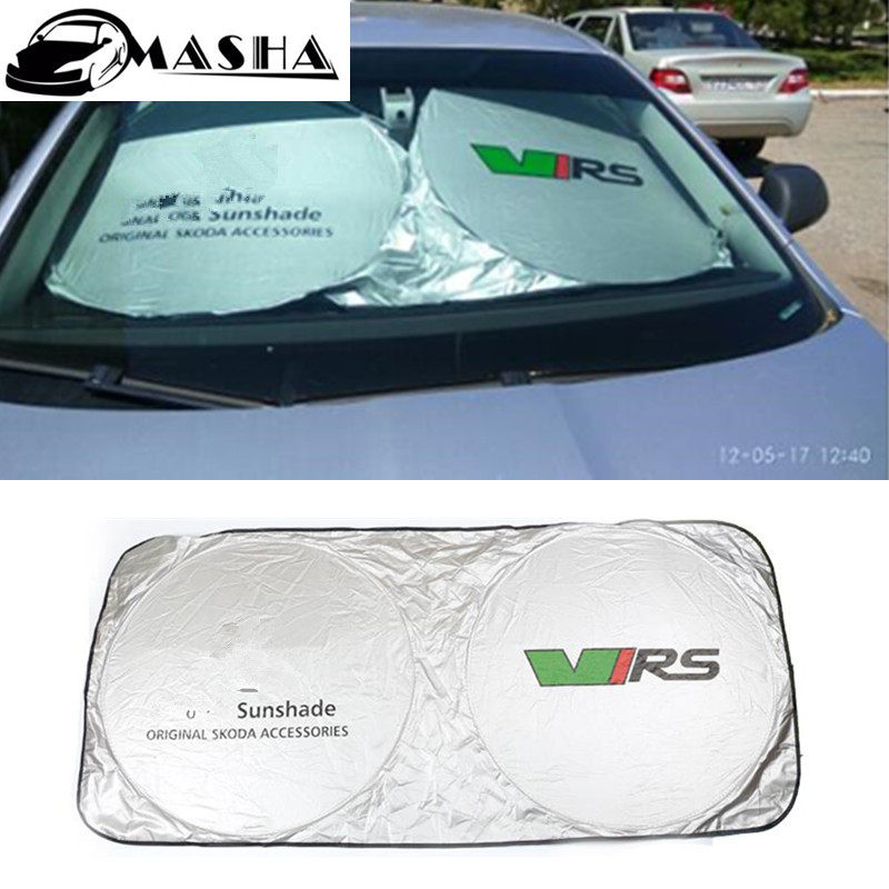 Car windshield sunshade sun shade visor curtain for skoda superb 2 rapid yeti roomster felicia android octavia 2 a7 a5 fabia ouzhi for skoda octavia 2 a7 fabia rapid yeti red brown brand designer luxury pu leather front
