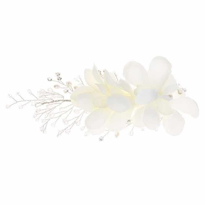 בעבודת יד תחרה לבן אדום פרח הכלה שיער חתונה מצנפות בגימור שושבינה כיסוי ראש כלה כיסוי ראש סיכות נשים תכשיטים