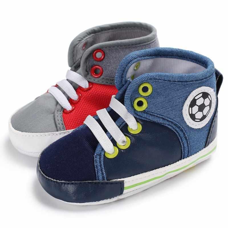 Primavera otoño bebé recién nacido niños zapatos cuna Bebe Infante niño clásico Casual alta encaje-Up zapatillas deportivas botas y13