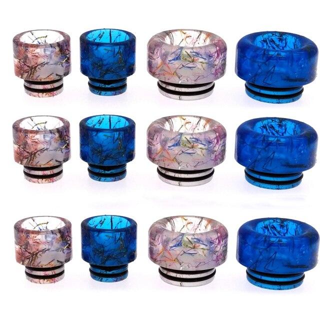 New Epoxy Nhựa Nhỏ Giọt Mẹo 510/810 E Thuốc Lá Phụ Kiện Vòng Phong Cách Vape Ống Ngậm cho TFV8 RDA RTA Bể Phun Rộng đường kính