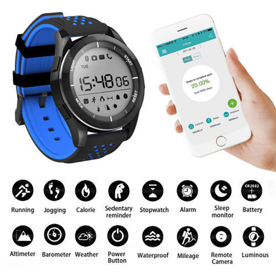 все цены на Smart Watch 2018 F3 Waterproof for IOS Android Smart Watch Men With Heart Rate Monitor Fitness Tracker Pedometer Watch онлайн