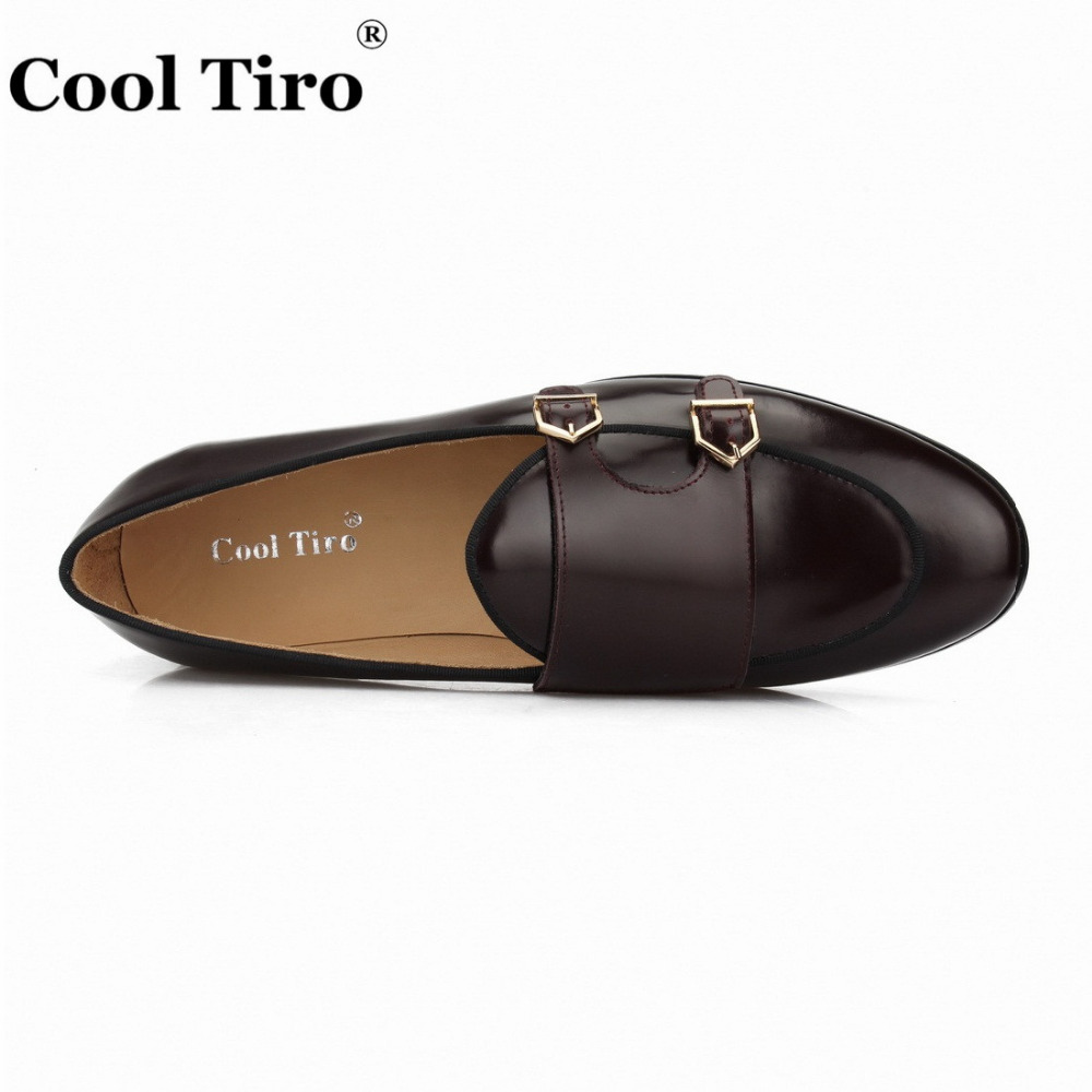 POLISHED LEATHER DOUBLE-MONK LOAFERS Brown (11)
