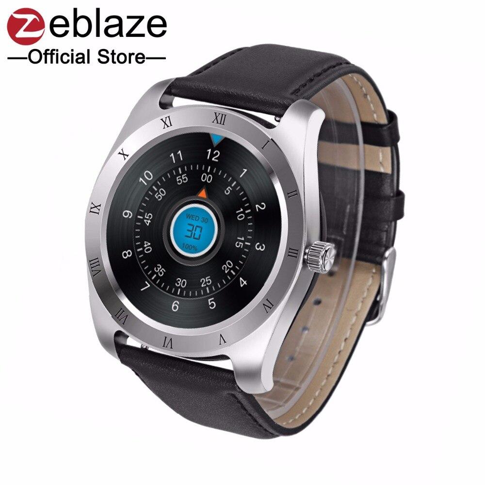 imágenes para [Superventas] zeblaze classic smart watch ips apoyo de pantalla huawei pulsómetro bluetooth smartwatch para apple ios android