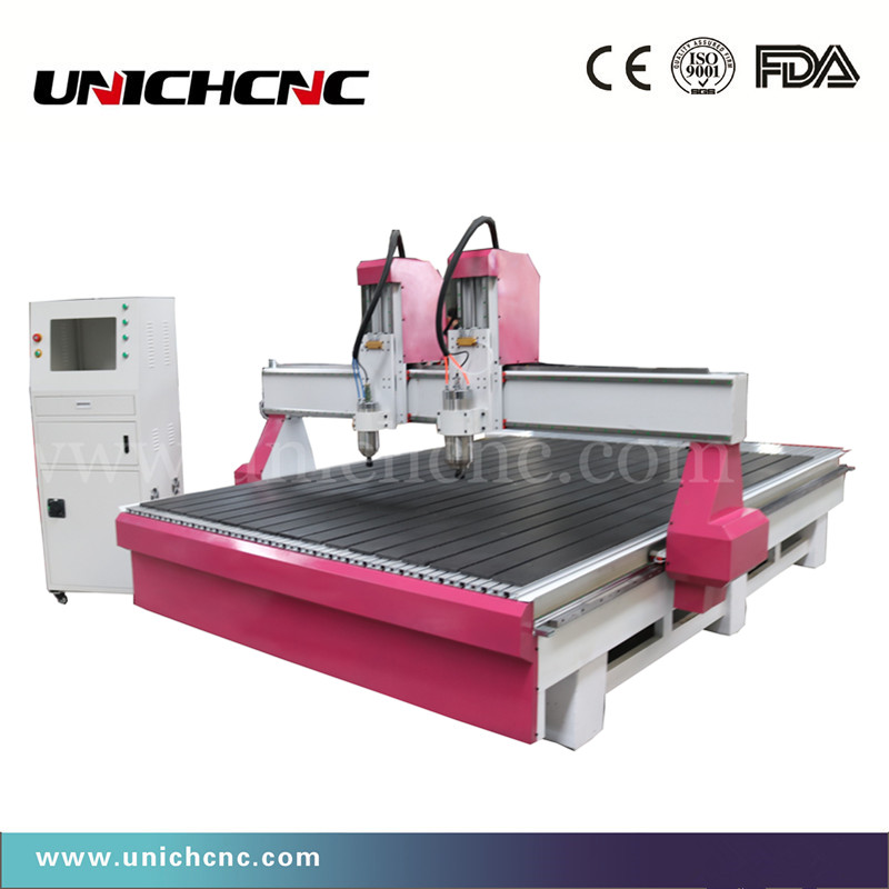 Gold Quality Two Heads 2000*3000mm Lathe Cnc Router Wood&cnc Milling Machine