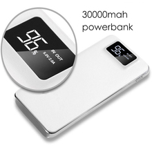 30000mah USB Power Bank External Battery LCD Portable Mobile Phone Daul USB Charger Powerbank For Xiaomi MI iphone X Samsung 8