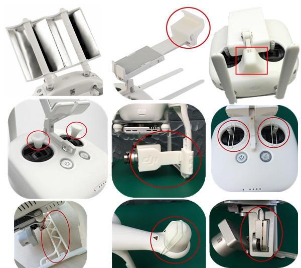 Aluminum Parabolic Antenna Range Booster + Camera Gimbal Protector …..9 sample 3D Printed spare parts for DJI Phantom 3