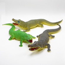 1Pcs 30cm Green brown gray alligator Lifelike Simulation Animals crocodile Action Figure Toy For Kids