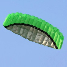 2.5M Parafoil Kite Outdoor Sports Power Soft Kite Dual Line Stunt Parachute Beach Kites+Handle Line,Nylon Power Kite+Flying Tool