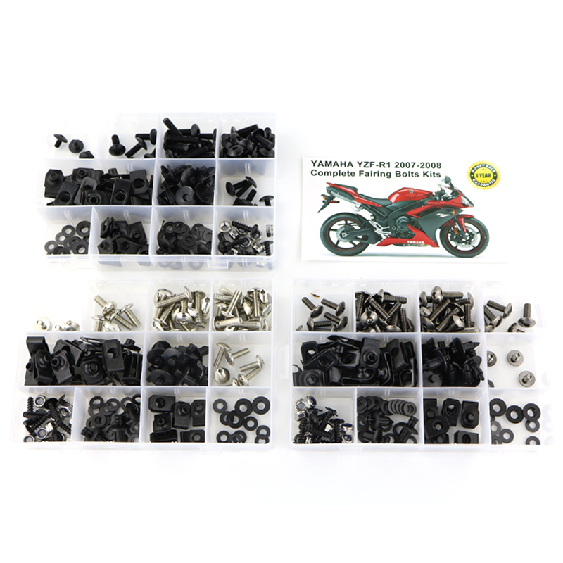 Motorcycle Accessories Full <font><b>Fairing</b></font> Bolts Kits With OEM Style Washer Fastener Clips Screws For <font><b>Yamaha</b></font> YZF-<font><b>R1</b></font> YZF <font><b>R1</b></font> <font><b>2007</b></font> 2008 image