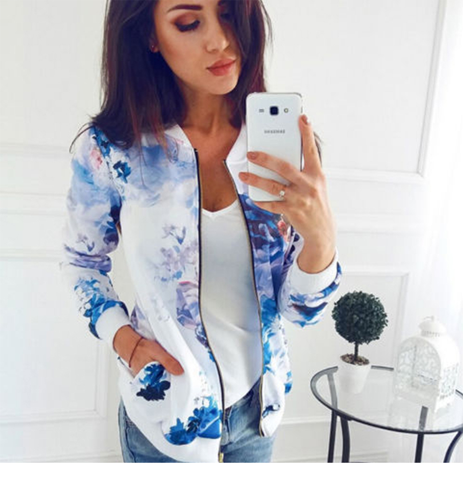HTB13ZDcThTpK1RjSZR0q6zEwXXau Plus Size Printed Bomber Jacket Women Pockets Zipper Long Sleeve Coat Female Flower Chiffon White Jacket Woman Spring 2019