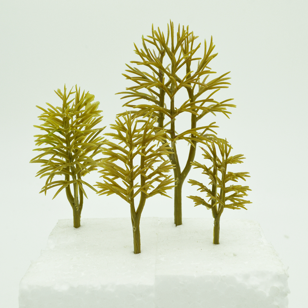 Miniature Trees For Building Toys ABS Plastic Model Trees N HO Z OO Scale Architecture Railroad Scenery Landscape