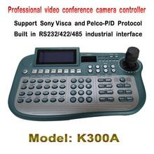 Профессиональная конференция камеры 3 оси контроллера клавиатуры с Pelco D/p VISCA протокола, управления панорамирования, наклона увеличить любой камеры ptz